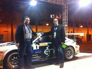 Con el coche Del Campeon