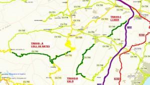 mapa tramos